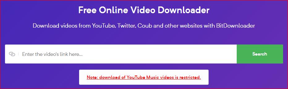 Bit Downloader interface
