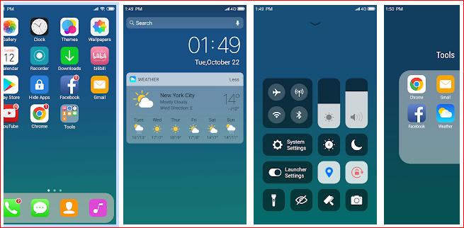 X Launcher iOS 13 looks for Andoid phones