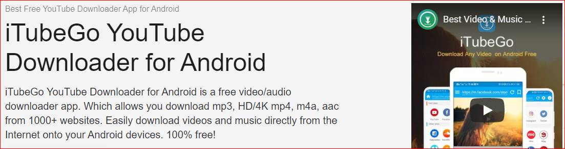iTube Go YouTube Downloader for Android