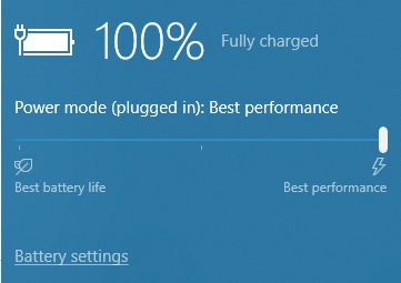 Power Setting Windows 10 Plugged in On Battery
