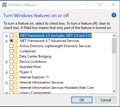 Turn Windows Features On Off Windows Search