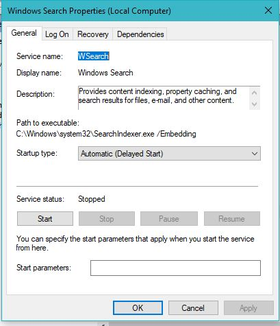 Windows Search Speedup Windows 10 PC