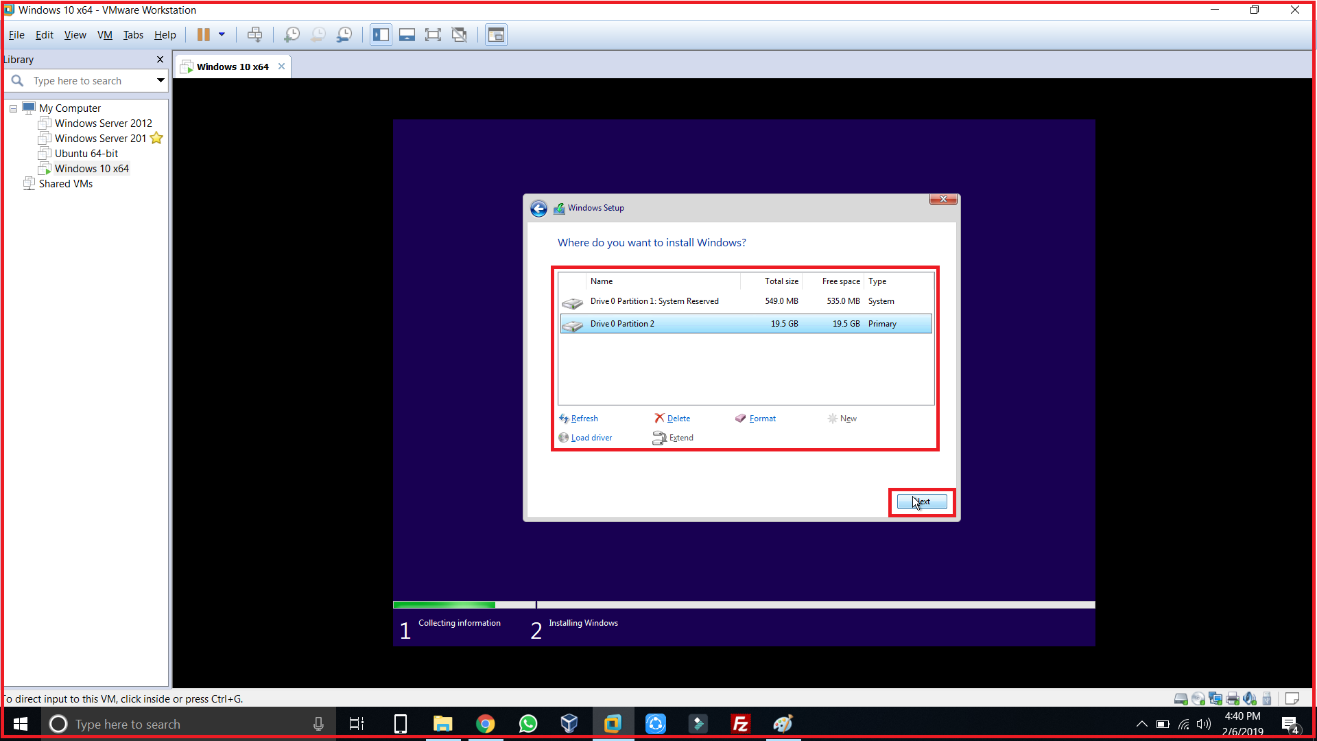system reserved and partition 2