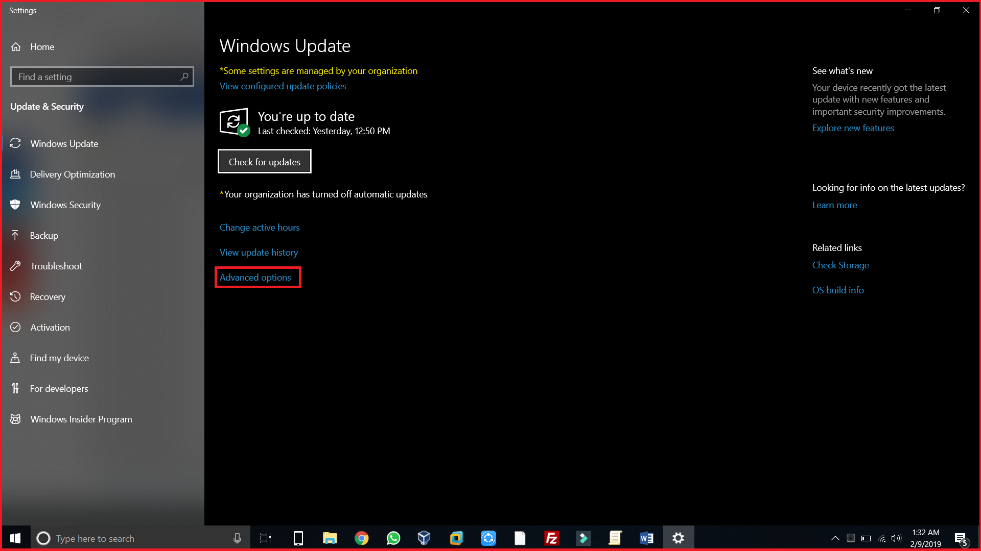 Disable Windows Automatic Update Settings
