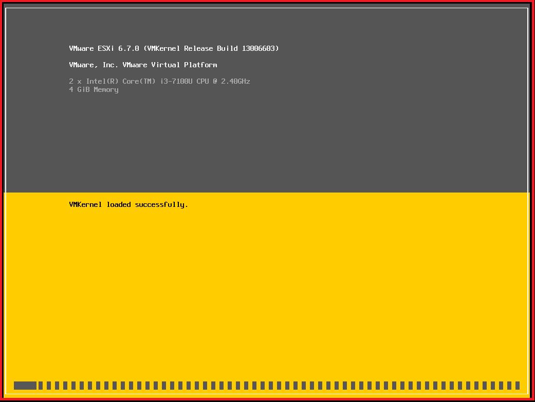 Installing ESXi Server