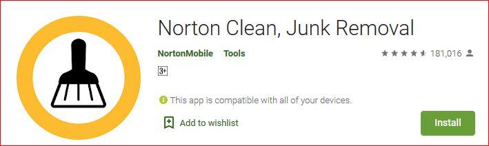 Download Norton Clean Junk files Remover