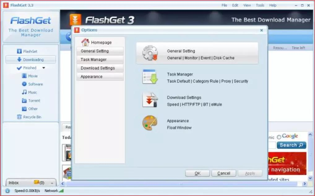 FlashGet is a freeware download manager tool