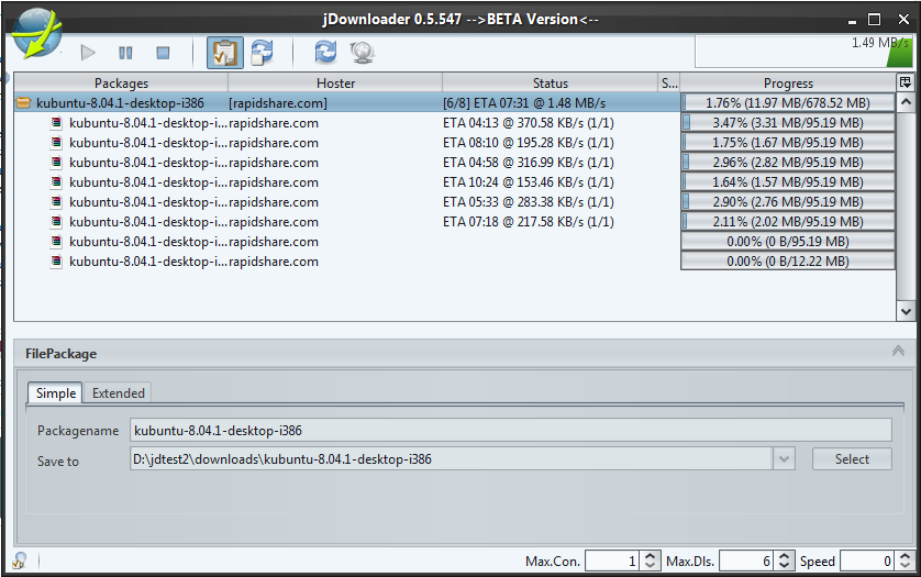 JDownloader is an open source download manager