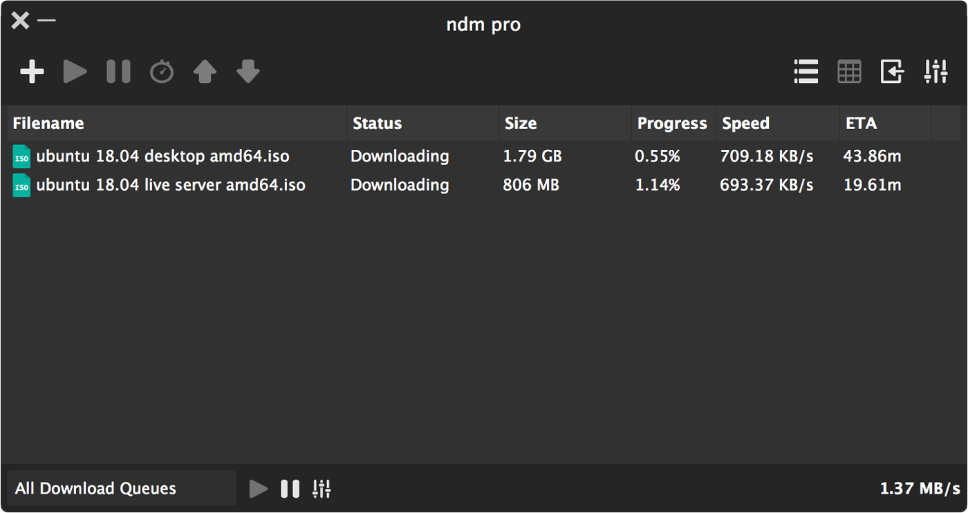 NDM (Ninja Download Manager) is another best download manager