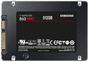 SAMSUNG 860 PRO SSD 512GB - 2.5 Inch SATA III Internal Solid State Drive with MLC V-NAND Technology