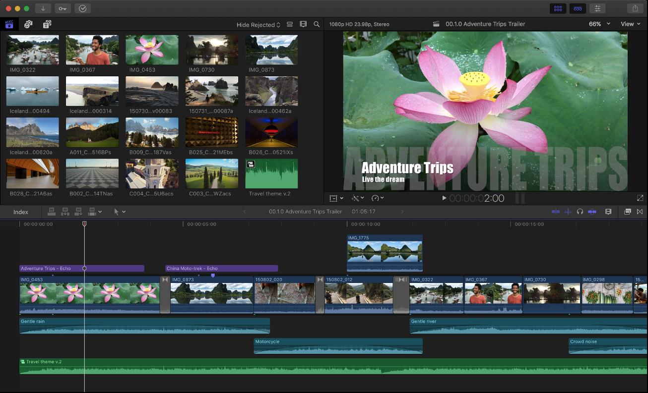 FInal Cut Pro Best Video Editing Software for MAC
