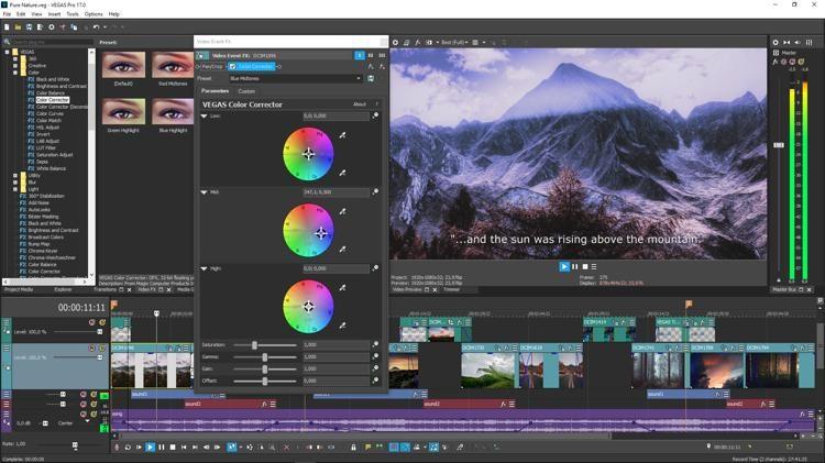 Magix Vegas Pro Video editing software