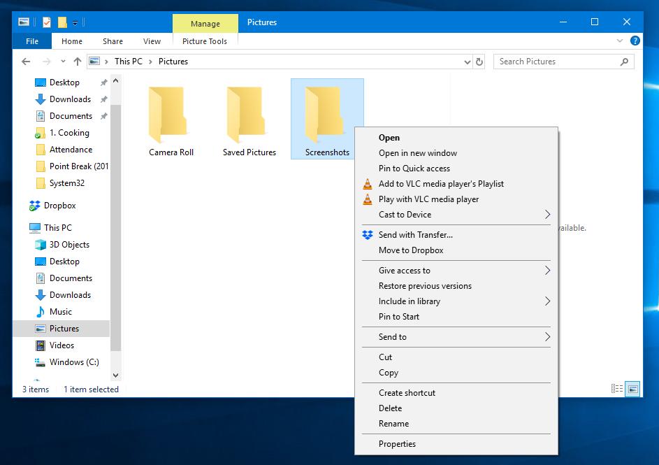 Take Screenshots Using Print Screen Function, PrtSc button