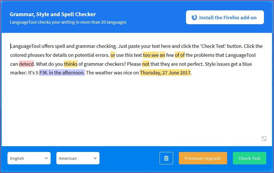 Language Checker Tool