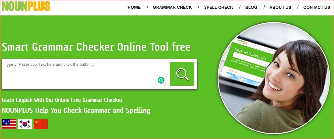 NounPlus smart grammar checker online tool for free