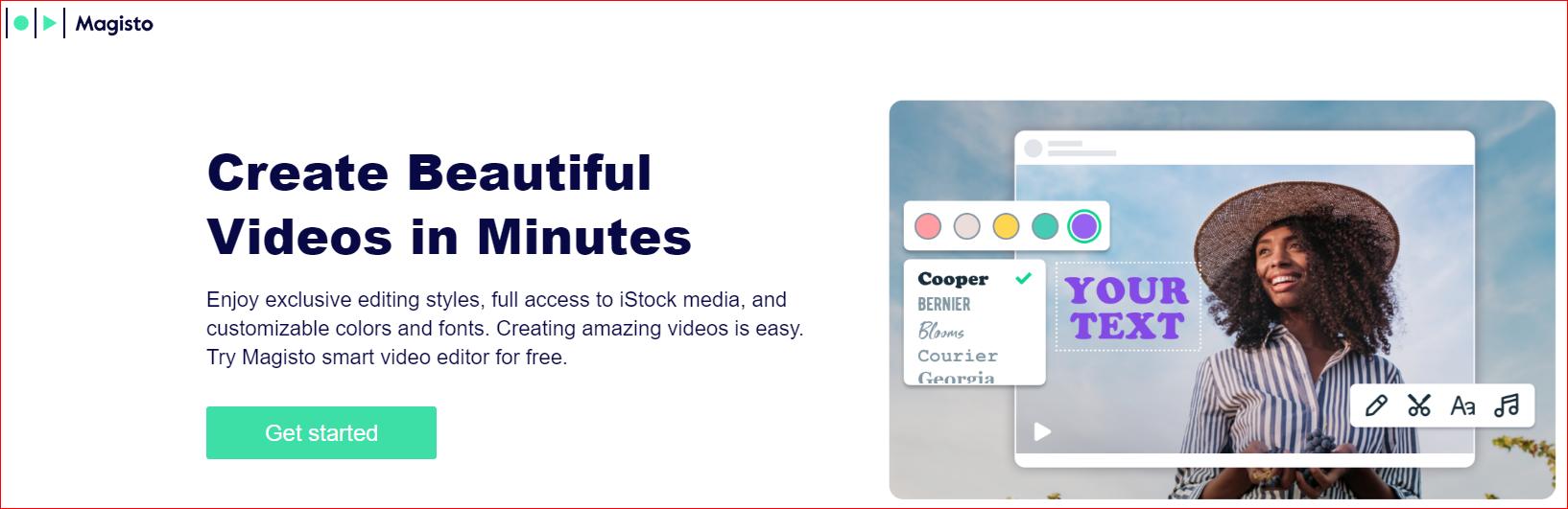 Magisto AI powered video editor