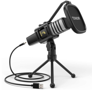 USB Microphone, TONOR Condenser Computer PC Mic with Tripod Stand