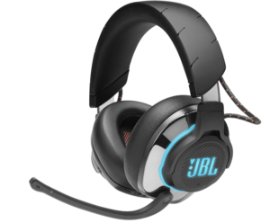 JBL Quantum 800 Bluetooth Gaming Wireless Over-Ear Headphones Boom Microphone and Volume Control